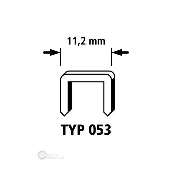 Wolfcraft 7016000 4000db széles tűzőkapocs Typ 053 acél 6mm